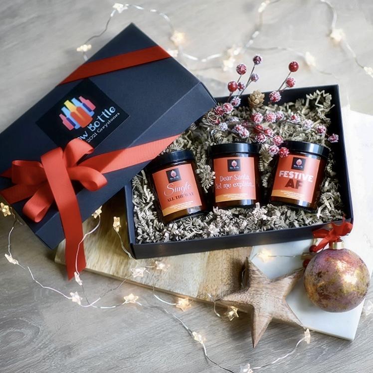 Glow Bottle Christmas Candles Gift Box